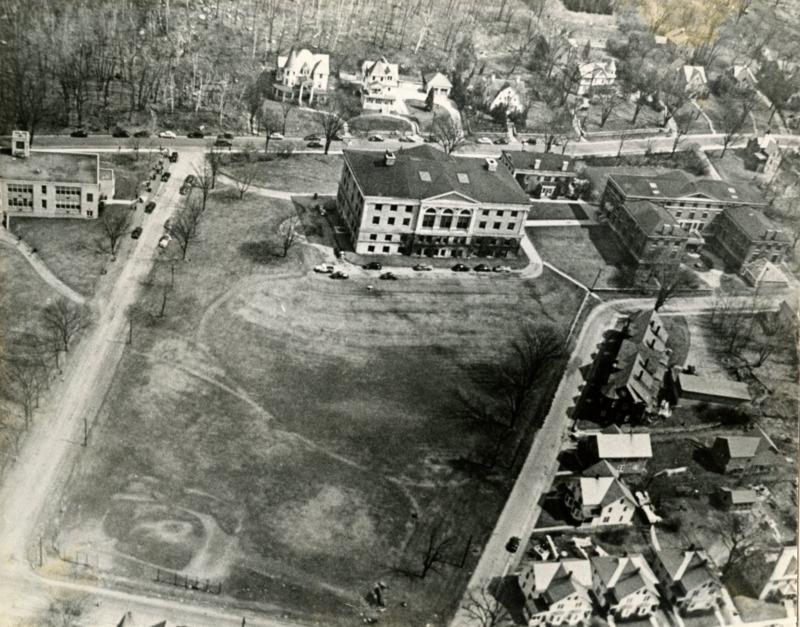 Birdeye's View of North Adams State College, circa 1960