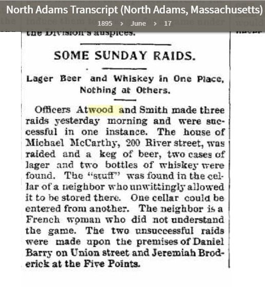Account of Raid Led by Officer Atwood
